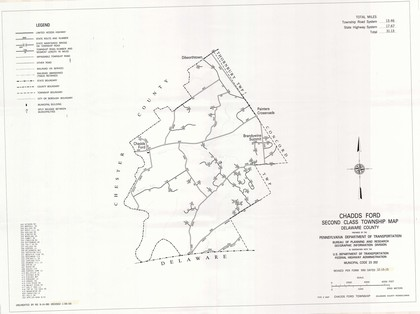State Road Map of State and Township Roads - Township Maps - Chadds on