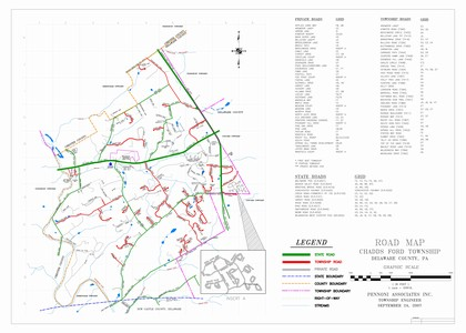 Township, State & Roads - Township Maps - Chadds Ford Township on